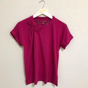 Kate Spade Bow Tee Pink Fuchsia sz M